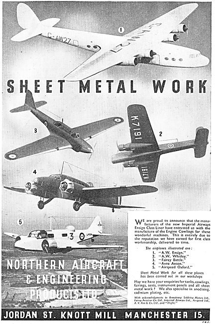 Northern Aircraft. - Manufacturers Of Aircraft Components