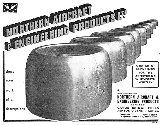 Northern Aircraft. Mchestr - Manufacturers Of Aircraft Components