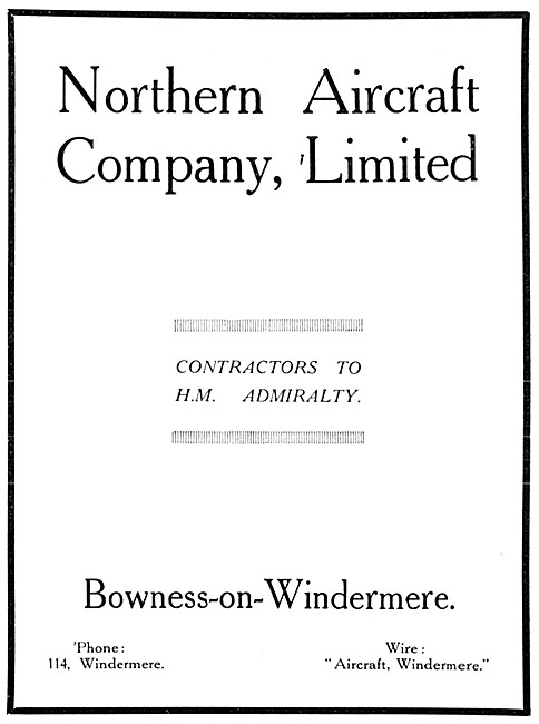 Northern Aircraft Company Bowness-On-Windermere