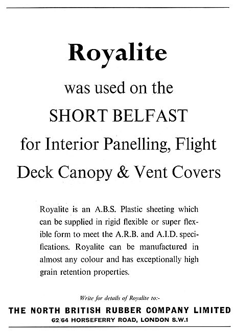 The North British Rubber Company. ROYALITE ABS Plastic Sheeting