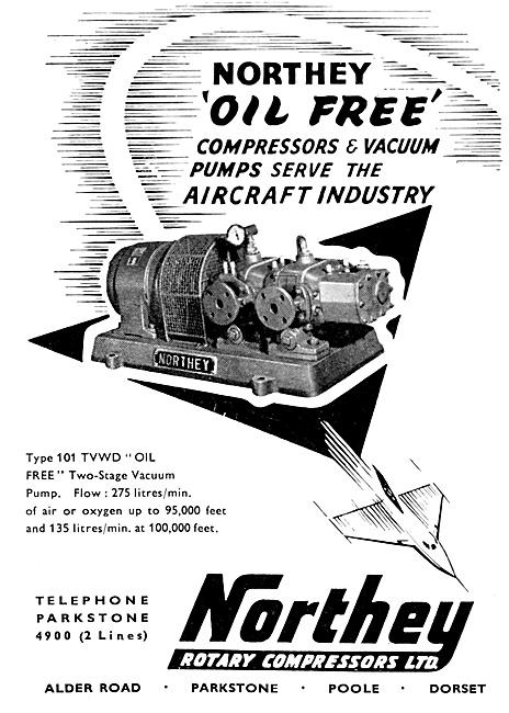 Northey Air Compressors & Vacuum Pumps 1959