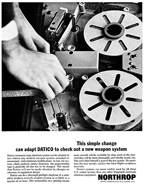 Northrop DATICO Automatic Tape Weapon Checkout System