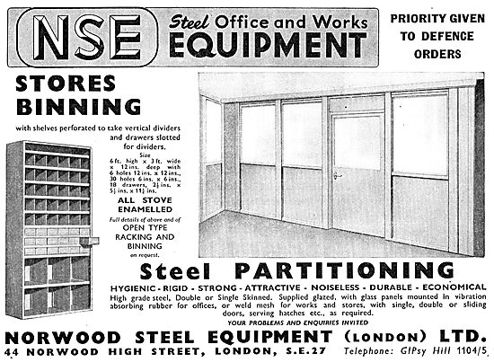 Norwood Steel Equipment Ltd. Factory Stores Bins & Racking