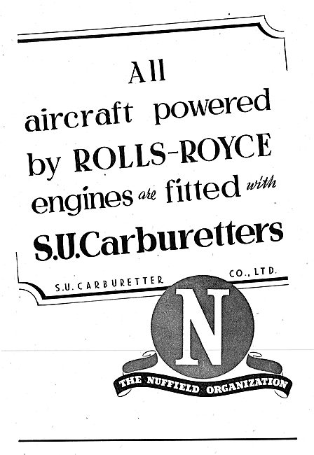 The Nuffield Organization. S.U.Carburetters 1942