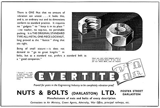 Nuts & Bolts Ltd - Darlaston. Evertite Nuts & Bolts