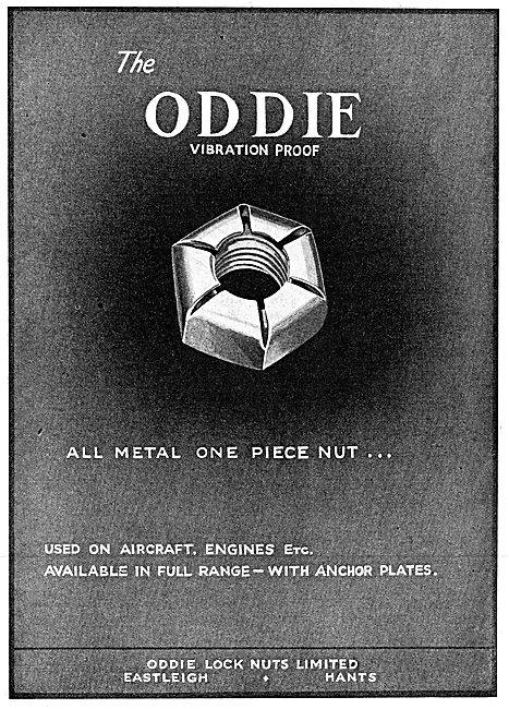 Oddie Self-Locking Fasteners Oddie Nuts 1943