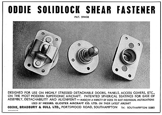 Oddie Solidlock Shear Fasteners For Aircraft