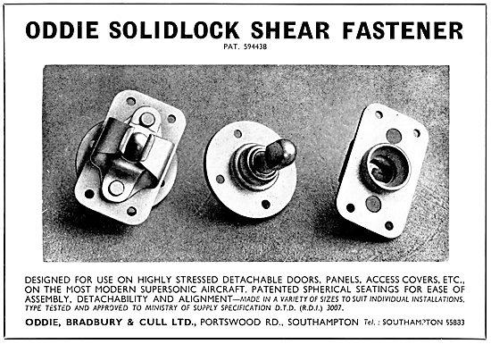Oddie Self-Locking Fasteners. SOLIDLOCK Shear Fasteners