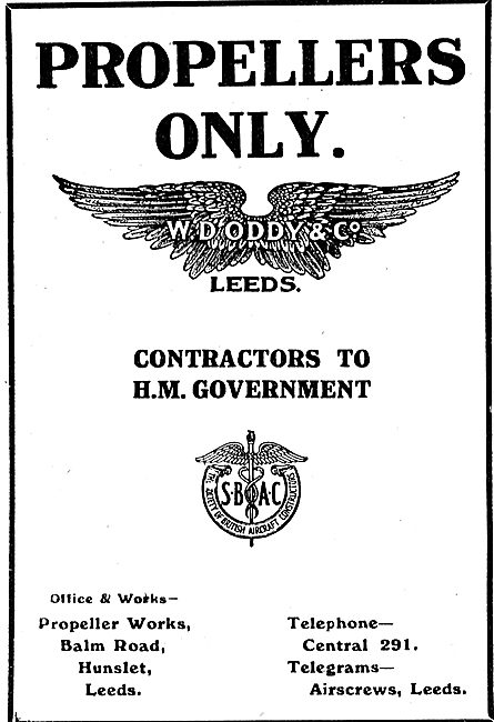W.D.Oddy & Co -  Manufacturers Of Propellers. Balm Rd Hunslet