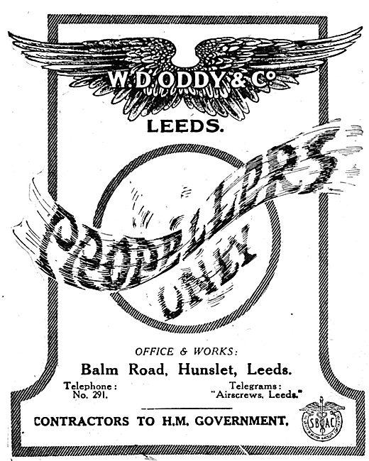 W.D.Oddy & Co - WW1 Oddy Propellers