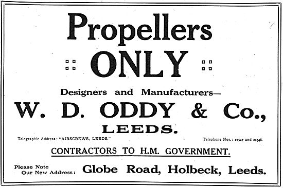 W.D.Oddy & Co - Designers & Manufacturers Of Propellers