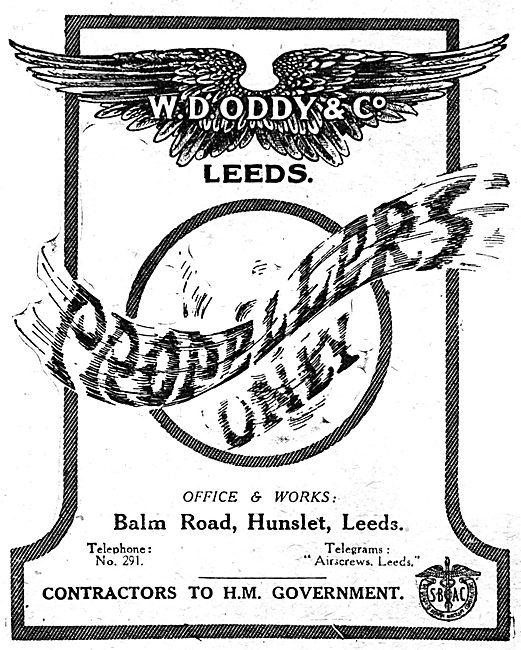 W.D.Oddy & Co - Oddy Propellers. 1918 Advert
