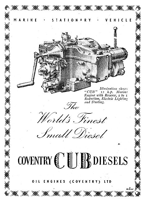 Oil Engines (Coventry) - Coventry Cub Diesels