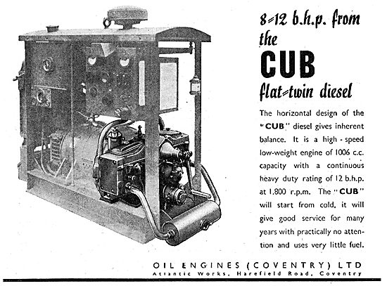 Oil Engines (Coventry) - Cub Flat Twin Diesel