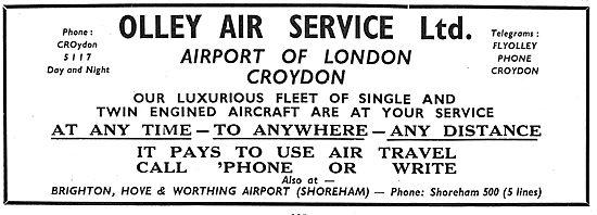 Olley Air Services - Croydon. Charter, Air Taxi