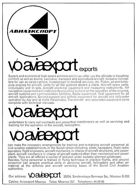 Omnipol Aviaexport - USSR - Soviet Union