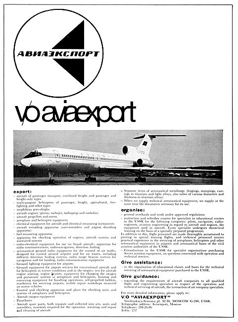 Aviaexport Russian Aircraft USSR