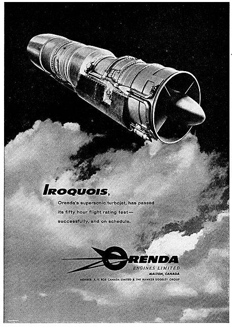 Orenda Iroquois Supersonic Turbojet Engine