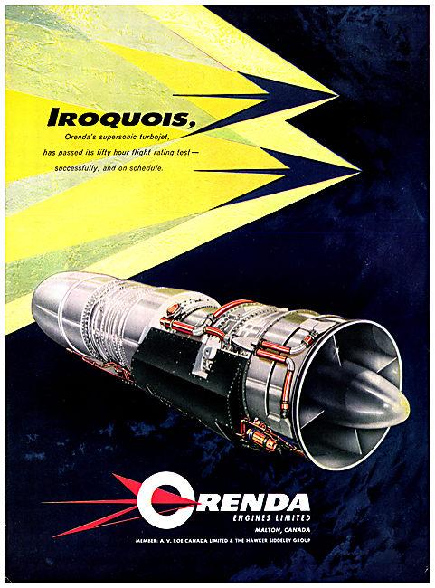 Orenda Iroquois Turbojet Aero Engine