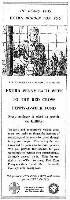 The Red Cross Penny A Week Fund. 1943  help POWs