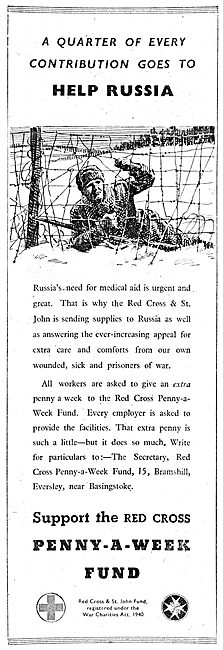 The Red Cross Penny A Week Fund. 1943. Aid For Russia