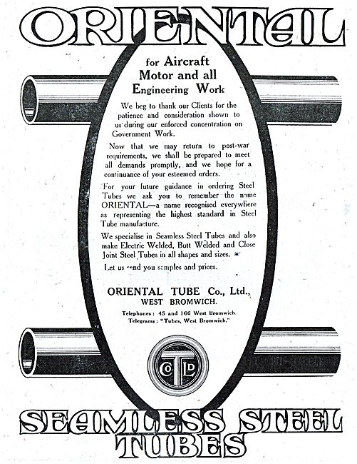 The Oriental Tube Co - Stainless Steel Tubes For Aircraft