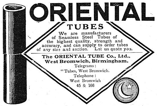 The Oriental Tube Co - Steel Tubes For Aircraft