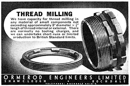 Ormerod Engineers. Thread Milling