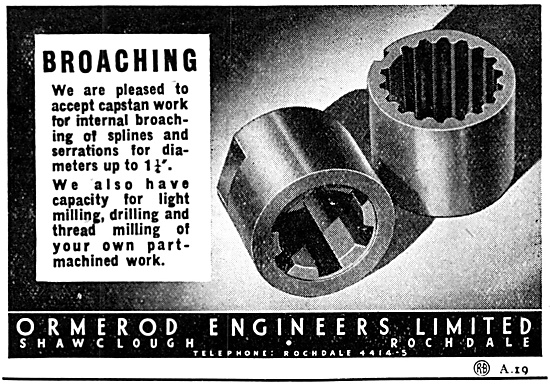 Ormerod Engineers. Capstan Work Broaching 1947