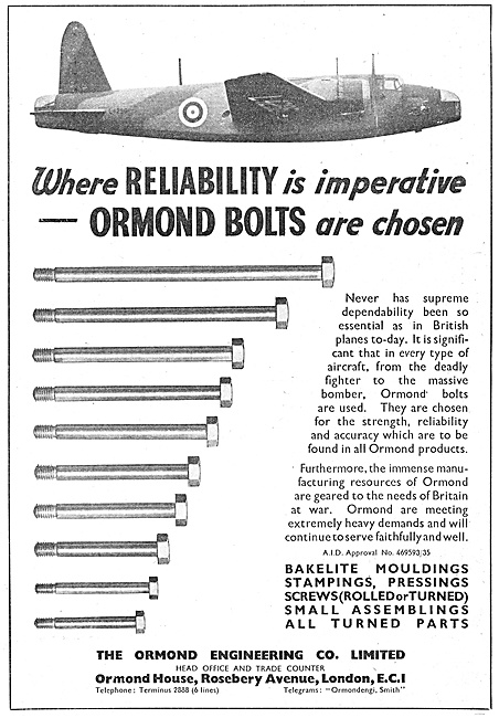 Ormond Engineering Precision Bolts For Aircraft Constructors
