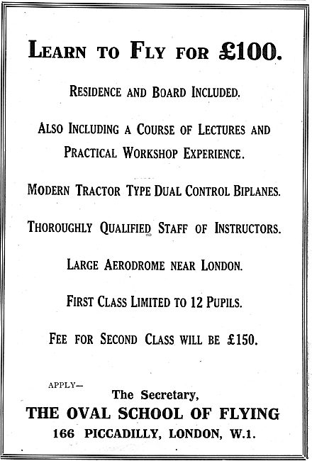 The Oval School Of Flying - Flying Training Near London