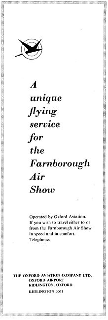 Oxford Aviation - Charter Service To The Farnborough Air Show