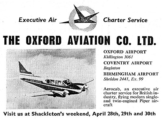 Oxford Aviation Executive Air Charter Service - Oxford & Coventry