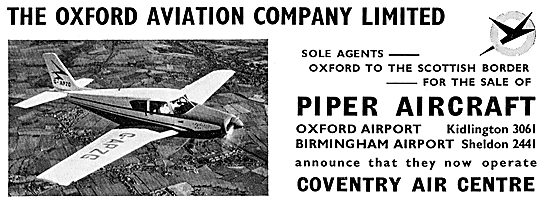Oxford Aviation - Piper Agents For England