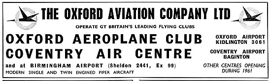 Oxford Aviation - Oxford Aeroplane Club & Coventry Air Centre