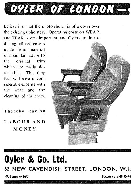 Oyler & Co Ltd. Aircraft Seating Covers