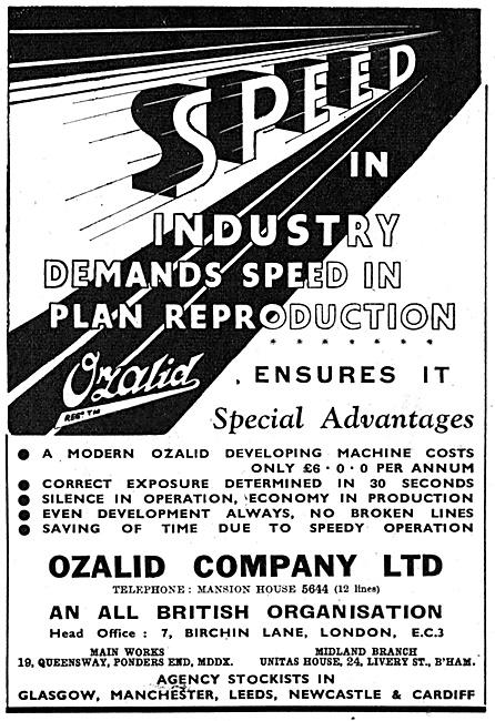 Ozalid Printing & Drafting Equipment