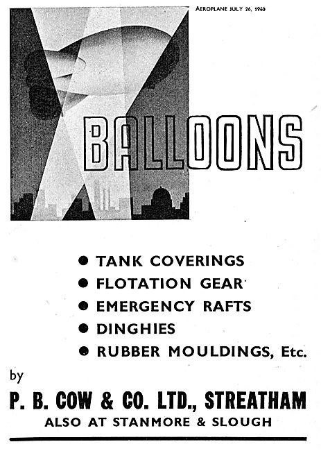 P B Cow Balloons Rafts And Dinghies