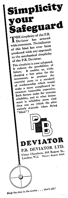 P.B.Deviator Blind Flying Instrument