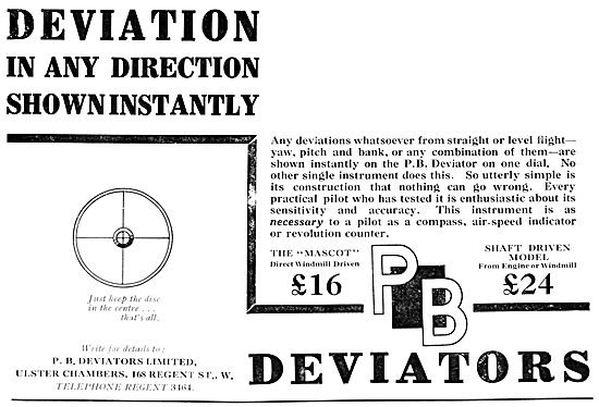 P.B.Deviator Blind Flying Aid 1931