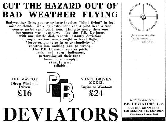 P.B.Deviator Attitude Indicator 1931