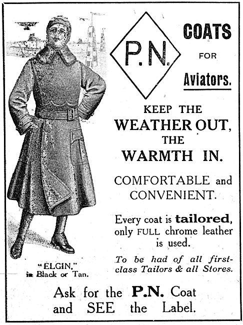 P.N.Stanley. P.N. Elgin Aviators' Coat