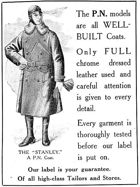 P.N.Stanley. P.N. Stanley Leather Flying Coats