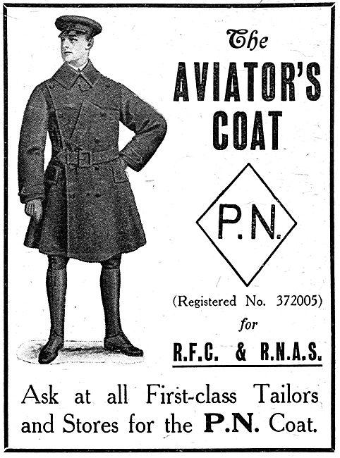 P.N.Stanley. P.N. RFC & RNAS Leather Flying Coats