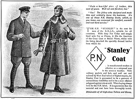 P.N.Stanley. P.N. Leather Flying Coats & Service Uniforms 1917