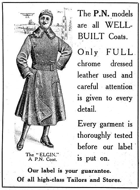 P.N.Stanley. P.N. Elgin WW1 Leather Flying Coats