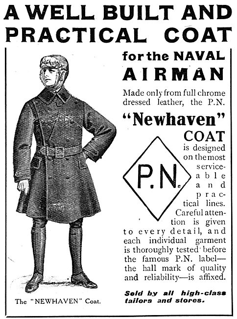 P.N.Stanley. P.N. Newhaven WW1  Naval Airmans Leather Flying Coat