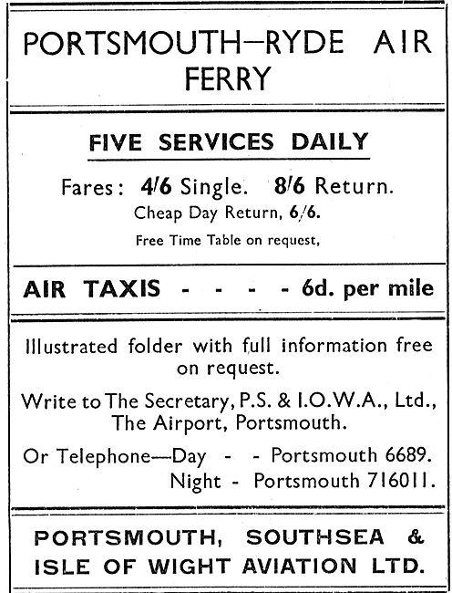 P.S.& I.O.W.A. Ltd - Portsmouth Ryde Air Ferry