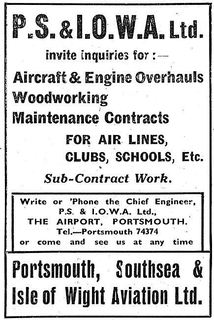 P.S.& I.O.W.A. Ltd - Aircraft Services