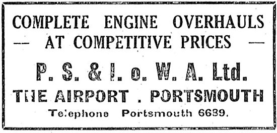 P.S.& I.O.W.A. Ltd - Portsmouth. Engine Overhauls